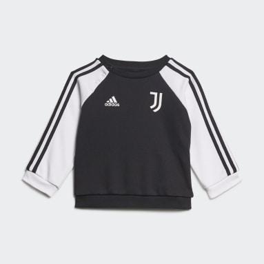 Kids Football Black Juventus 3-Stripes Baby Jogger