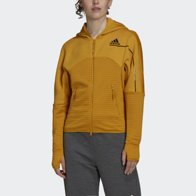 Frauen Sportswear adidas Z.N.E. COLD.RDY Athletics Hoodie Gold
