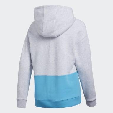 Youth Training Grey Colorblock Hoodie