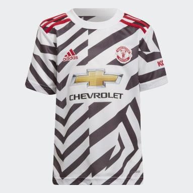 Kinderen Voetbal Wit Manchester United 20/21 Mini Derde Tenue