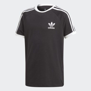 Boys Originals Svart 3-Stripes Tee