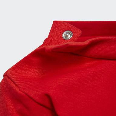 Infants Originals สีแดง ชุดเสื้อและกางเกง Trefoil