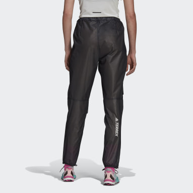 Pantalón impermeable Terrex Agravic Trail Running 2.5-Layer Negro Mujer TERREX