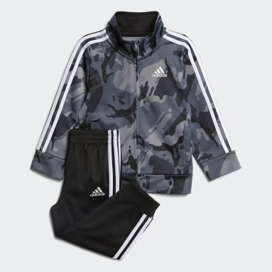 Infant & Toddler Training Black Classic Camo Jacket and Joggers Set