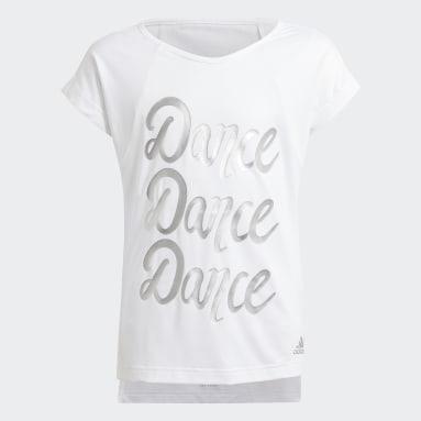 Youth 8-16 Years Gym & Training White AEROREADY Dance T-Shirt