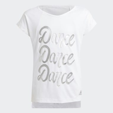 Girls Gym & Training White AEROREADY Dance Tee