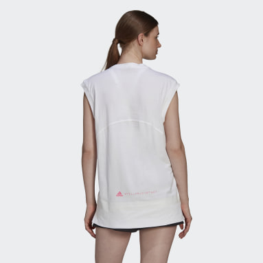 Canotta Muscle Bianco Donna adidas by Stella McCartney