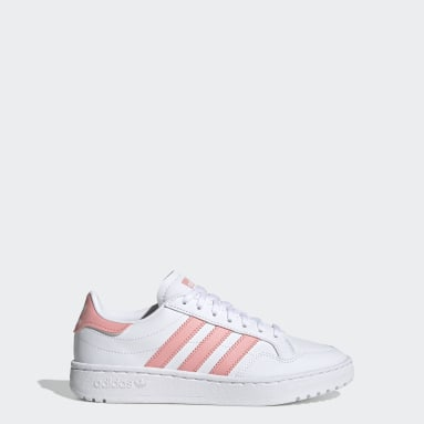 Sapatos Team Court Branco Raparigas Originals