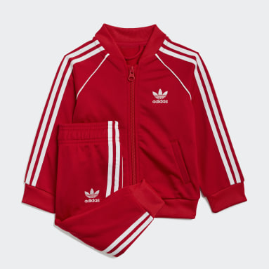 Infants Originals Red Adicolor SST Track Suit