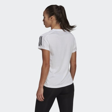 Women Running White Own the Run Tee