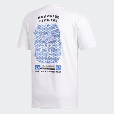 Men Originals White BK Flowers T-Shirt