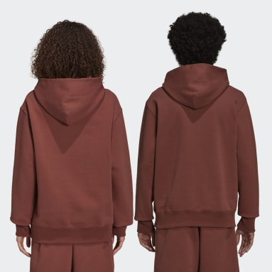 Hoodie Pharrell Williams Basics (Non genré) Marron Originals