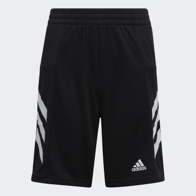Children Training Black Pro Sport 3-Stripes Shorts