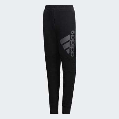 Boys Lifestyle Black Training Essentials Knit Pants
