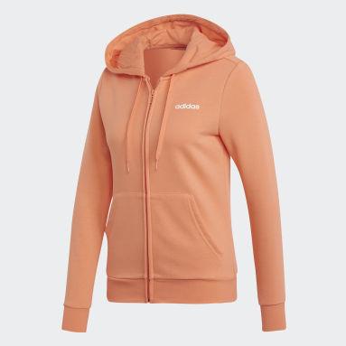 Frauen Fitness & Training Essentials Solid Kapuzenjacke Orange