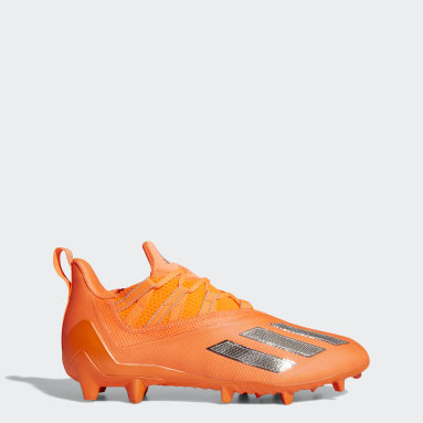 Men's Football Orange Adizero 11.0 Turbo Fuel Football Cleats
