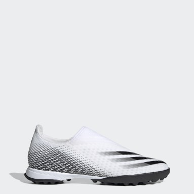 Zapatos de Fútbol Sin Cordones X Ghosted.3 Pasto Sintético Blanco Hombre Fútbol