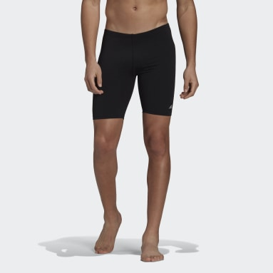 Men Swimming Black Solid Swim Jammers