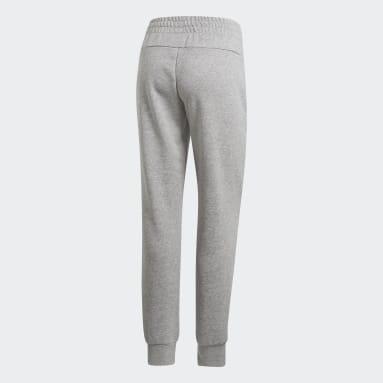 Women Sportswear Grey Essentials Solid Pants