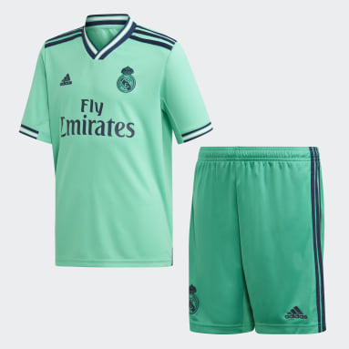 Barn Fotboll Grön Real Madrid Third Youth Kit
