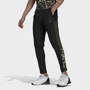 Men Football Black Tiro Graphic Tracksuit Bottoms