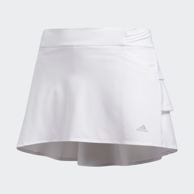Youth Golf White Ruffled Skort