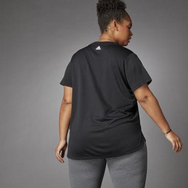 Women Training Black 3 Bar Logo Tee (Plus Size)