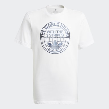 Youth Originals White Graphic Print Tee