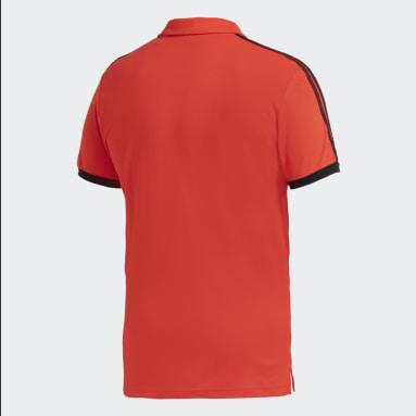 Polo River Plate 3-Rayas Rojo Hombre Fútbol