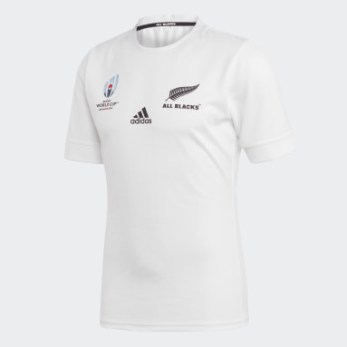 Men Y-3 White All Blacks Rugby World Cup Y-3 Away Jersey