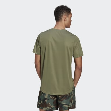 Men's Training Green adidas Designed 2 Move Camouflage Graphic AEROREADY Tee