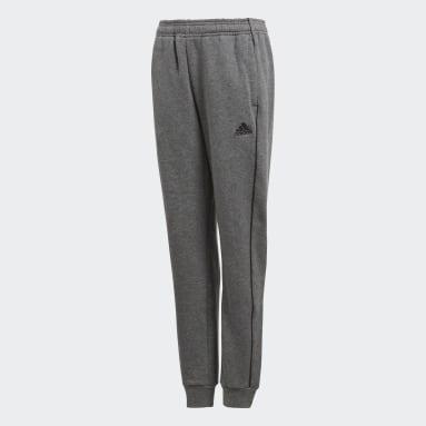 Pantaloni da allenamento Core 18 Grigio Bambini Calcio