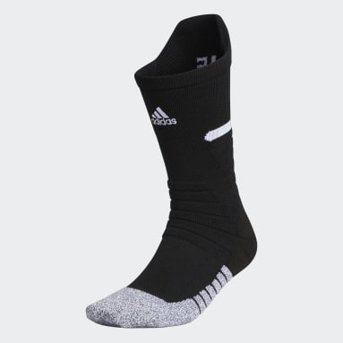 Football Black Adizero Football Cushioned Crew Socks