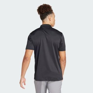 Mænd Golf Sort Performance Primegreen polotrøje