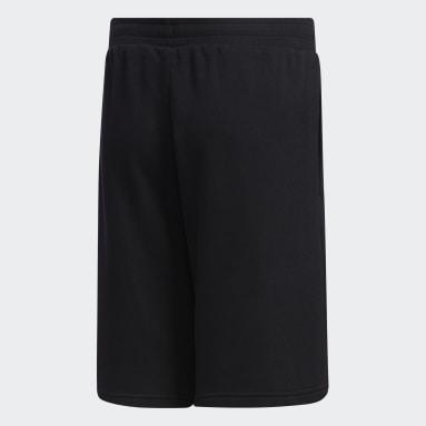 Shorts Brilliant Basics Negro Niño Diseño Deportivo