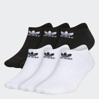 Kids Originals White Trefoil No-Show Socks 6 Pairs