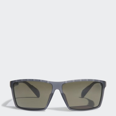 Running Grey SP0010 Matt Black Injected Sport Sunglasses