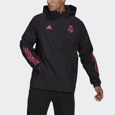 Chaqueta Real Madrid All-Weather Negro Hombre Fútbol