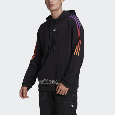 Hoodie SPRT 3-Stripes Nero Uomo Originals