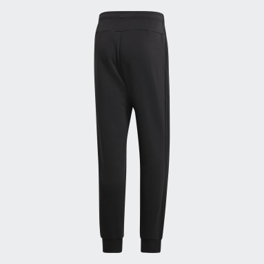 Pantalon Essentials 3-Stripes Tapered Cuffed noir Hommes Essentials
