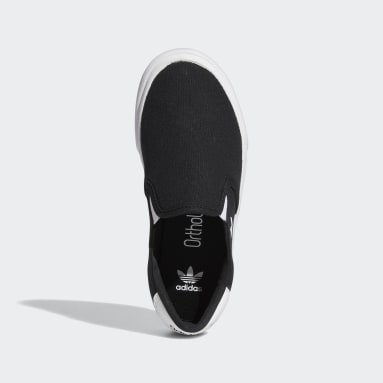 Youth Originals Black Court Rallye Slip Shoes