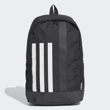 Lifestyle Black 3-Stripes Linear Backpack