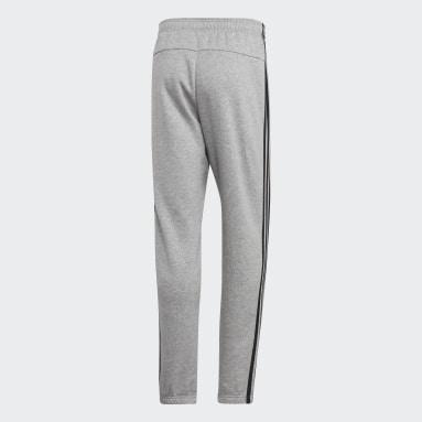 Men's Essentials Grey Essentials 3-Stripes Tapered Pants