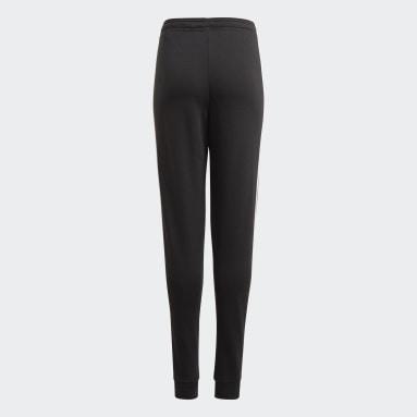 Dívky Sportswear černá Kalhoty adidas Essentials 3-Stripes French Terry