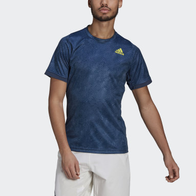 Men's Tennis Blue Tennis Freelift Printed Primeblue Tee