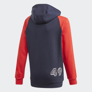 Youth 8-16 Years Gym & Training Blue Comfort Colorblock Hoodie