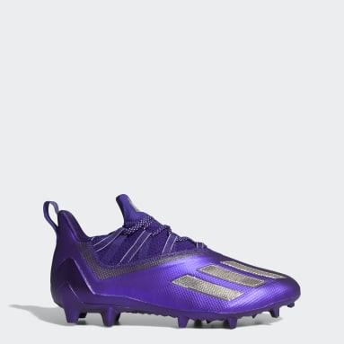 Men's Football Purple Adizero 11.0 Turbo Fuel Football Cleats