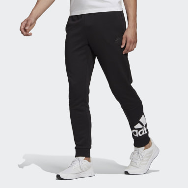 Men Sportswear Black Essentials French Terry Tapered Cuff Logo Joggers
