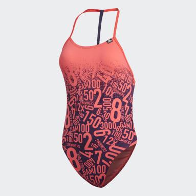 Ženy Plavání červená Plavky Pro Collab
