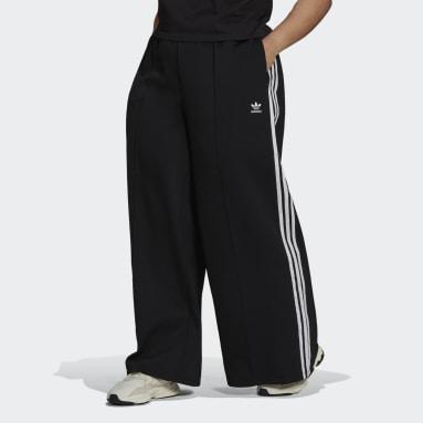 Women Originals Black Relaxed Wide-Leg Primeblue Pants (Plus Size)